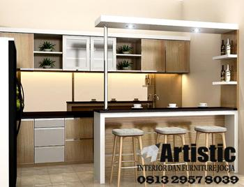 Jasa Pembuatan Kitchen Set Yogyakarta |  Jual Kitchenset Mini Bar Jogja ARTISTIC | Kitchen Set Sleman | Kitchen Set Bantul